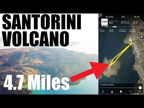 MAVIC PRO 4.7 MILE TRIP TO SANTORINI VOLCANO
