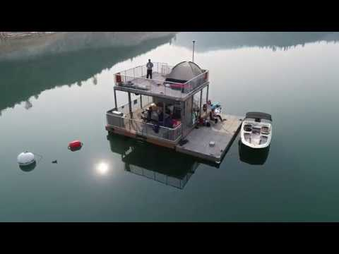 Lake Oroville California Floating Campsite August 2018 Hd 4k Drone Video Youtube