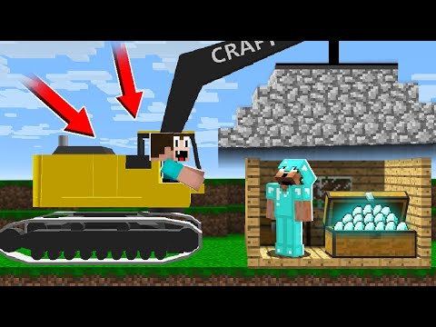 NOOB FOUND THE BEST WAY TO STEAL DIAMONDS FORM PRO! In Minecraft Noob Vs Pro