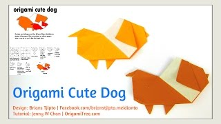 Origami Dog - Origami Cute Dog (brians Tjipto) - Origami Paper Crafts For Kids Tutorial
