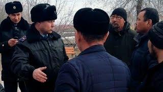 Адайцы не сдаются. Жесткий разговор с полицией в Актау. Задержания. 27. 02.2019 / БАСЕ