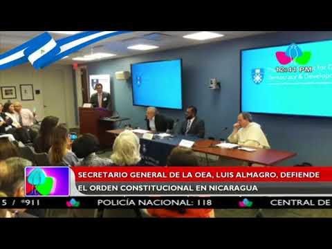 Secretario general de la OEA, Luis Almagro, defiende el orden constitucional en Nicaragua