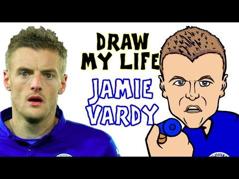 Jamie Vardy - DRAW MY LIFE! (Vardy biography PARODY highlights champions movie story)