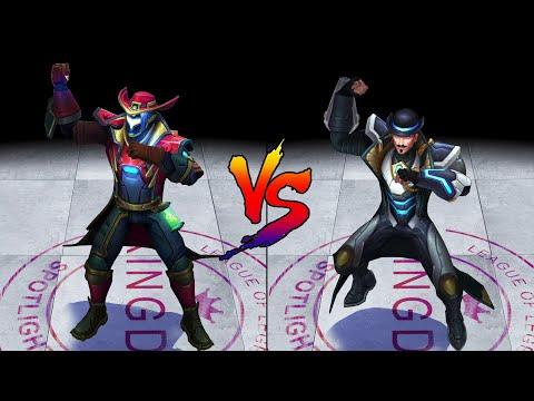 Odyssey Twisted Fate vs Pulsefire Twisted Fate Skin Comparison Spotlight (League of Legends)