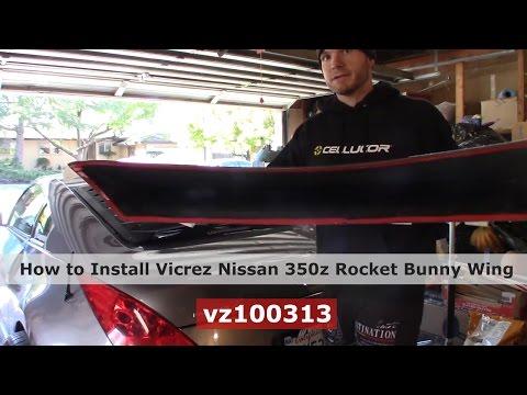 Vicrez Nissan 350z 2003-2008 Ducktail Rear Wing Trunk Spoiler vz100313