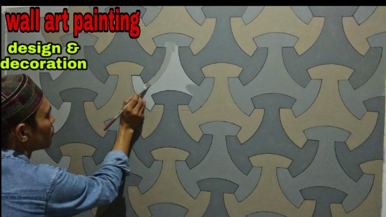 CAT TEMBOK 3D   3D WALL PAINTING   GAMBAR 3 DIMENSI - YouTube