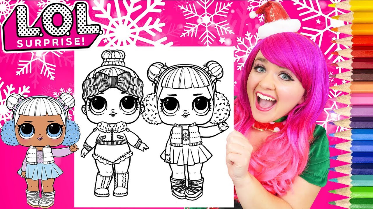 Coloring Lol Surprise Snow Angel Cozy Babe Coloring Page Prismacolor Pencils Kimmi The Clown Youtube