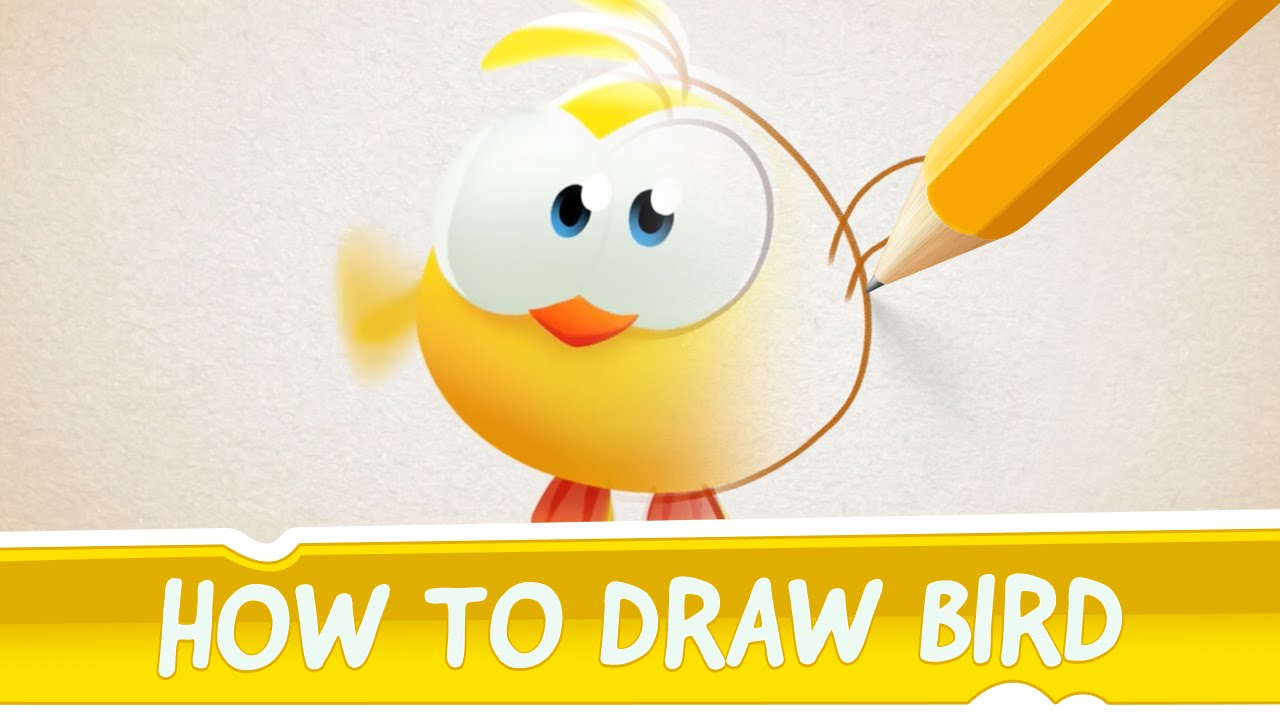 How to draw bird from cut the rope magic