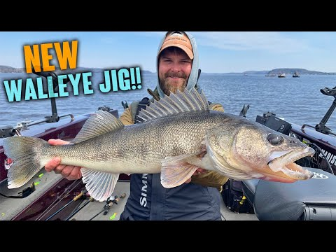 AWESOME NEW WALLEYE JIGS!!! - Post Spawn GIANTS!!