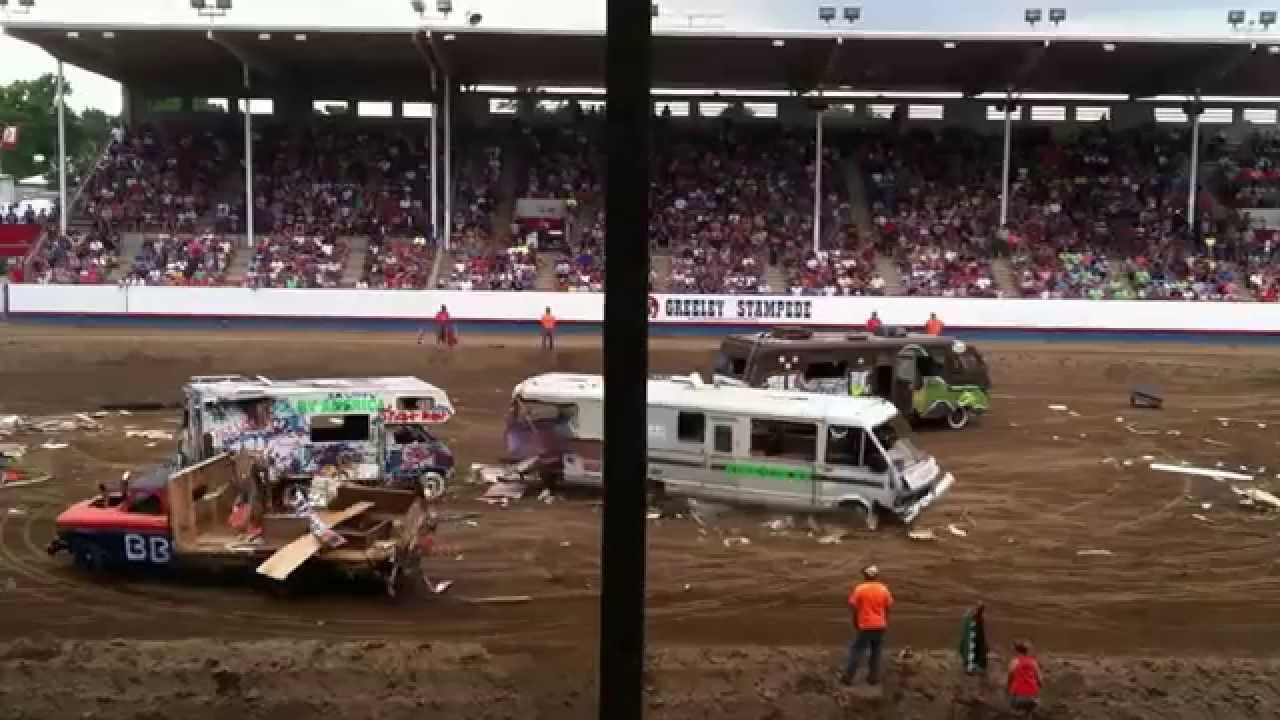 Greeley Stampede Rv Demolition Derby 2014 Youtube