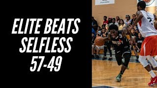 Elite Athletics beat Team Selfless (57-49)