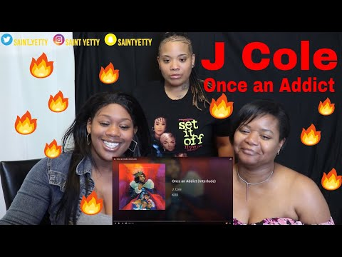 Mom reacts to J. Cole Once an Addict (Interlude) | Reaction Ft. J100 & Aunt