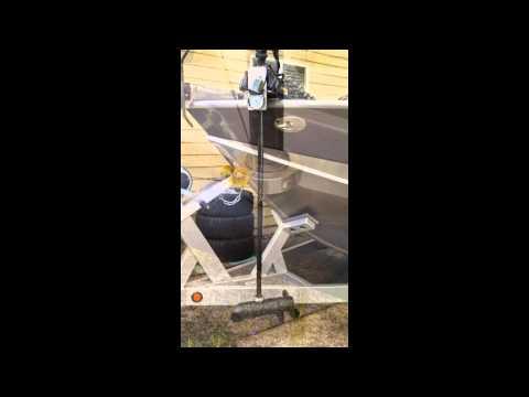 Minn Kota Trolling Motors >> The BowMountLift - Electric Trolling Motor Lift System - YouTube