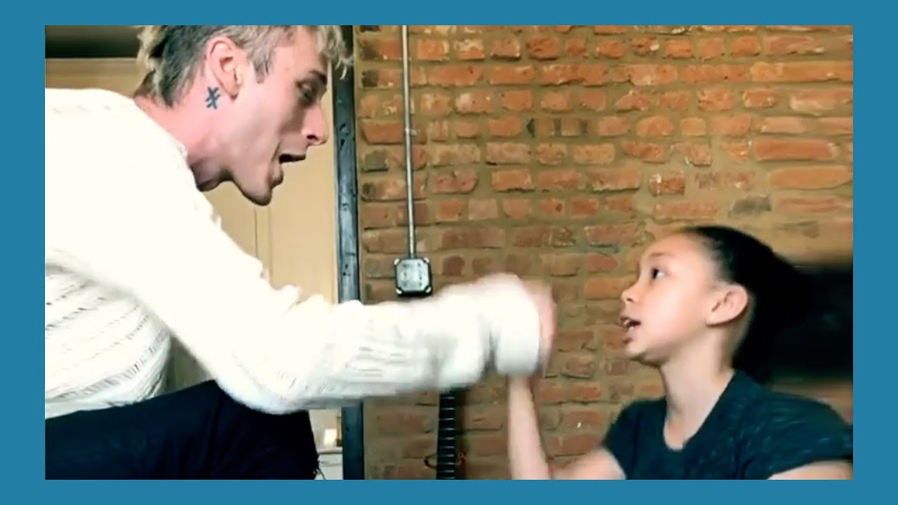 Machine Gun Kelly Raps With His Daughter