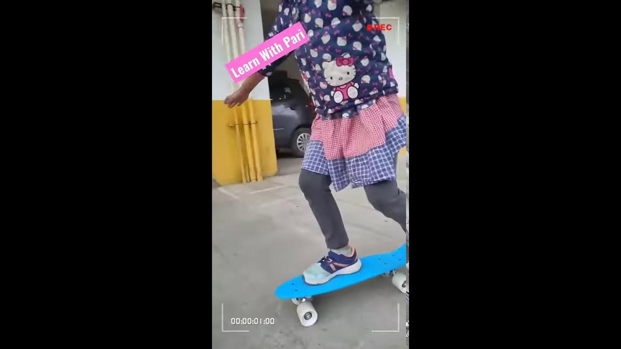 learning Skating /skat board 🛹🏂🎿⛷️ #learnwithpari #shorts