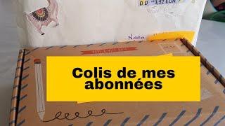 OUVERTURE COLIS DE MES ABONNES