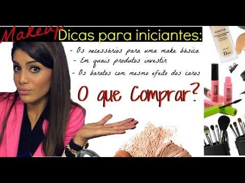 Maquiagem para iniciantes! O que Comprar? por Camila Coelho