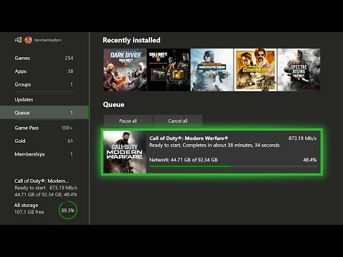 Downloading Modern Warfare At 1000 Mbps On Xbox One