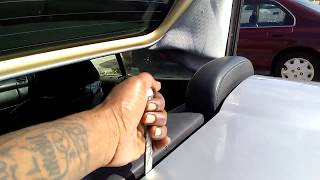 how to use special tool for Manually taking the top down CLK 320 Cabriolet (convertible)