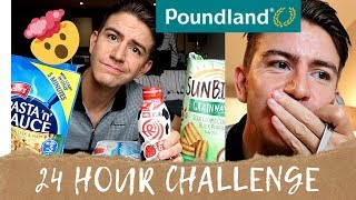 POUNDLAND FOOD 24 HOUR CHALLENGE * I GOT TOLD OFF IN STORE