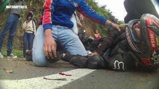 ACCIDENTE AKT 250 TT adventure | VIDEO MUY FUERTE | RaptoR15