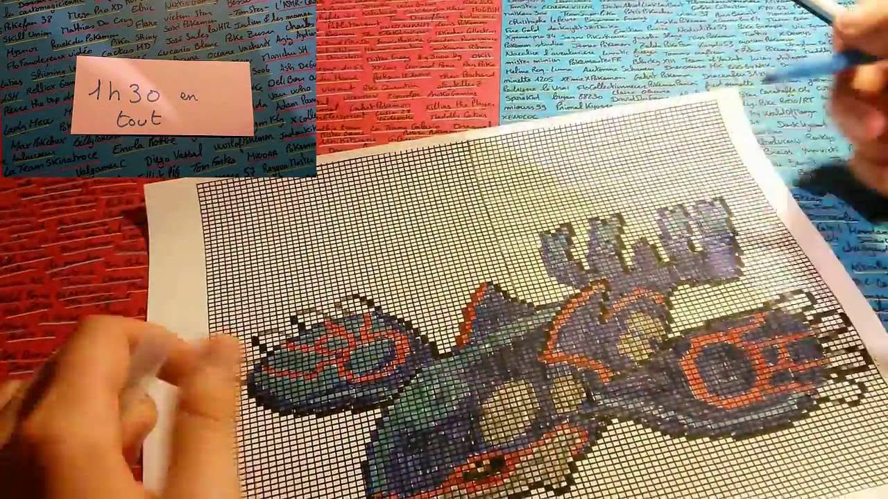 Pixel art Pokémon KYOGRE Comment dessiner How To Draw ... - Pixel Pokemon Legendaire