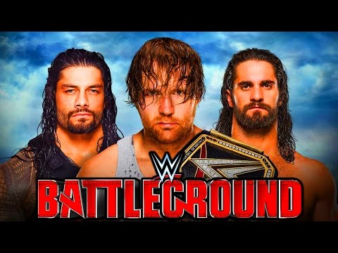 DEAN AMBROSE vs ROMAN REIGNS vs SETH ROLLINS Battleground 2016 !!! WWE 2K16 | MrWikky92