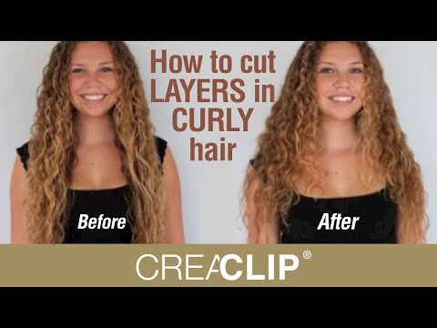 How To Cut Layers In Curly Hair Layered Hairstyle Youtube