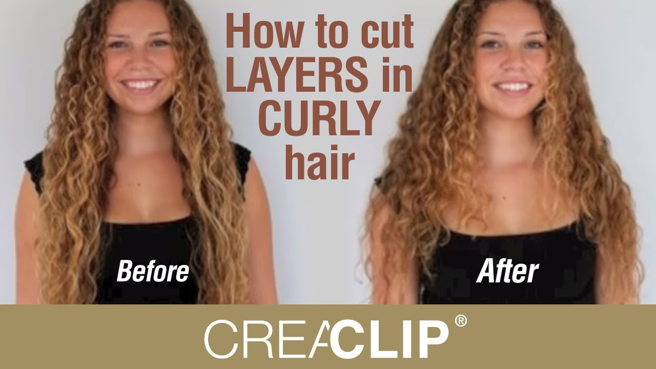 How to cut LAYERS in CURLY hair  Layered hairstyle
