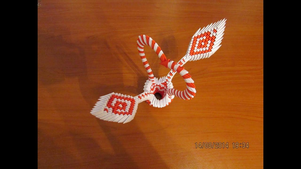 3D Origami Heart Basket Tutorial 2