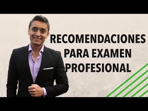 Consejos para el examen profesional | Humberto Gutiérrez