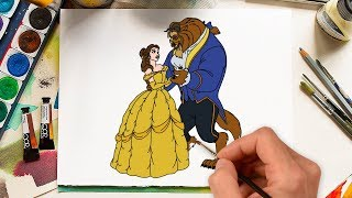 Beauty and The Beast Coloring Book Pages How To Draw Learn Colors With Belle Beauty and The Beast