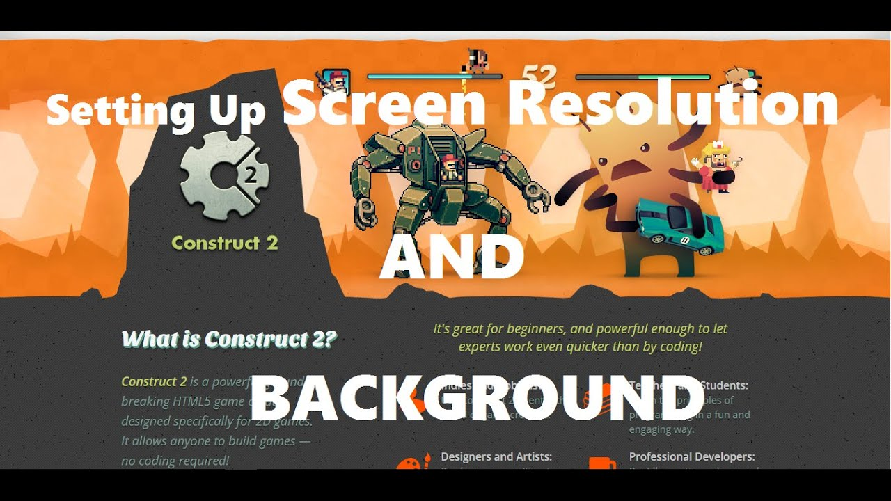 Construct 2 background image - Construct2 Tutorial 3 Setting Up Screen Size And Background