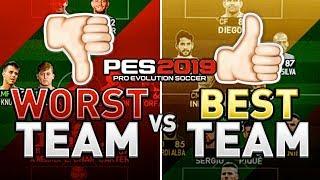 WORST TEAM vs BEST TEAM in PES 2019 CHALLENGE (SUPERSTAR) !!! AMAZING FINALE