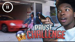 FUNNIEST PAUSE CHALLENGE EVER! w/ My Little Sister!