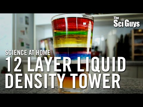 The Sci Guys: Science at Home - SE1 - EP5: 12 Layer Liquid Density Tower