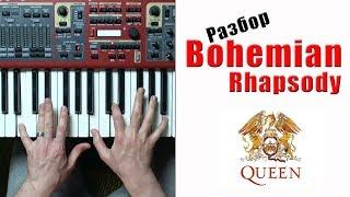 Богемская рапсодия (Bohemian Rhapsody) как играть разбор на пианино