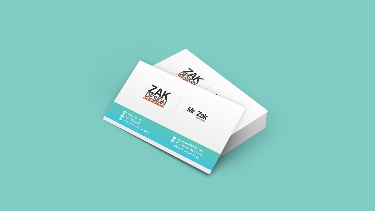 How to Design a Simple and Modern Business Card Design In Adobe Photoshop