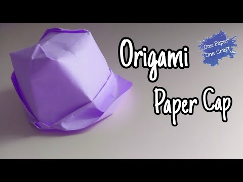 origami paper cap |പേപ്പർ തൊപ്പി | one paper one craft |easy craft| Step by step tutorial