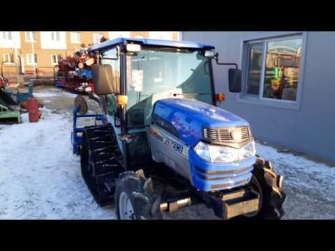 Гусенично колёсный трактор ISEKI GEAS с кабиной Видео обзор