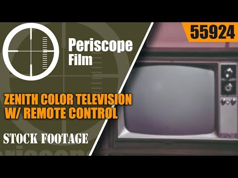 ZENITH COLOR TELEVISION W/ REMOTE CONTROL  1960s PROMOTIONAL FILM 55924