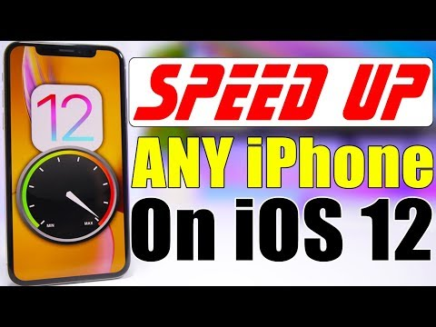 SPEED UP Any iPhone On iOS 12 (10 Tips & Tricks)