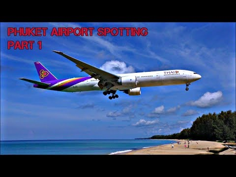 Incredible Beach Planespotting at Phuket International Airport, Thailand! | PART 1