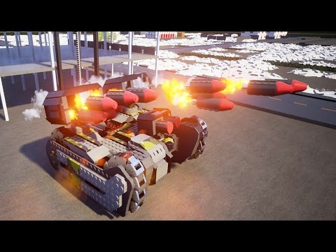 LARGEST Lego Style Missile Launcher Destroys City Buildings - Brick Rigs Workshop Creations Gameplay