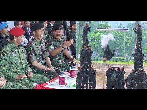 Aksi Hebat Kopassus Untuk Presiden Jokowi & Sultan Brunei Hassanal Bolkiah