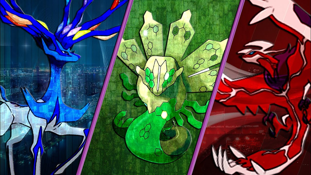 GFX Speed Art #8 - Shiny Xerneas, Yveltal, and Zygarde - YouTube