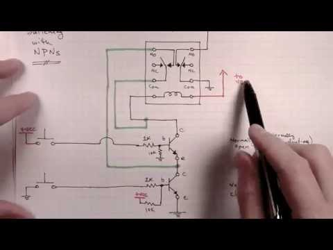 hqdefault how to build a selectable latching relays circuit part 2c low