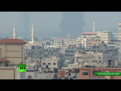 Transmisión desde la Franja de Gaza: Arde la única central eléctrica gazatí (29.07.14)