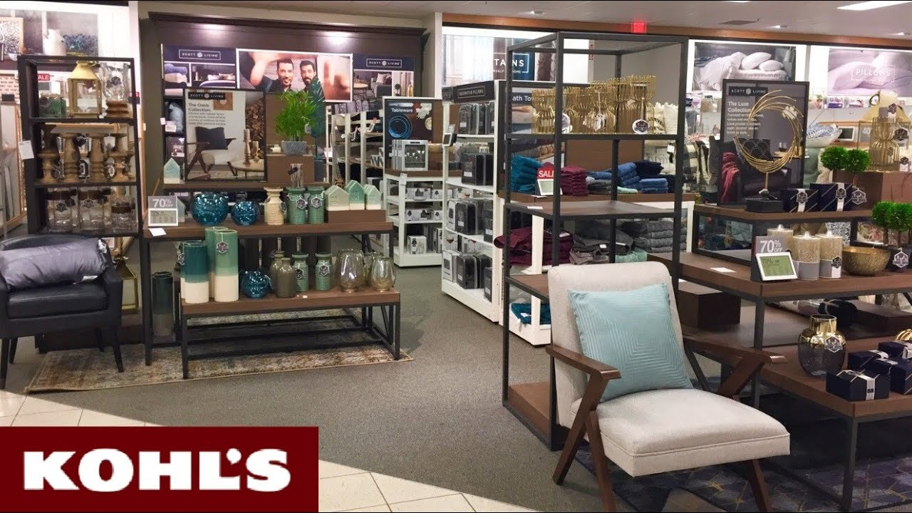 KOHLS REOPENING SCOTT COLLECTION ACCENT FURNITURE HOME DECOR SHOP WITH ME  SHOPPING STORE WALKTHROUGH