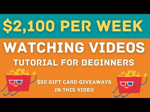 Earn $2,100 Per Week WATCHING VIDEOS (Make Paypal Money Online 2021)